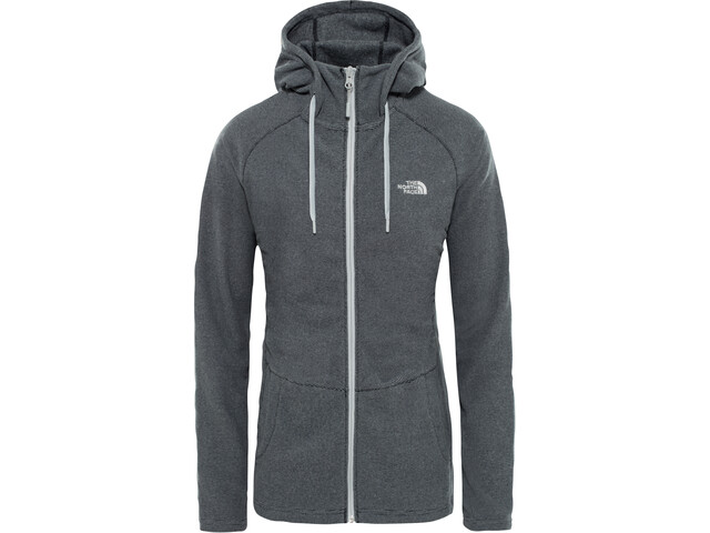 The North Face Mezzaluna Täysvetoketjullinen Huppari Naiset, tnf black stripe